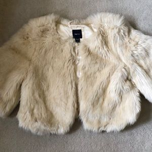 Gap kids faux fur coat!